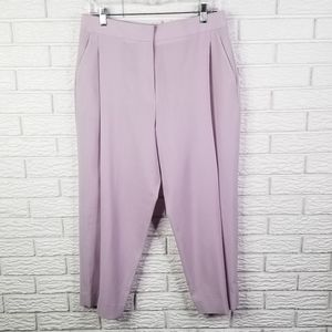 J Crew Collection Pleated Wool Crop Pants 8 Lilac